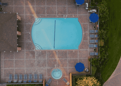 Sparkling Pool and Spa at Countrywood Apartment Homes