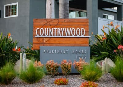 Countrywood Apartment Homes Entrance Sign