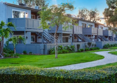 Countrywood Apartment Homes complex walkways