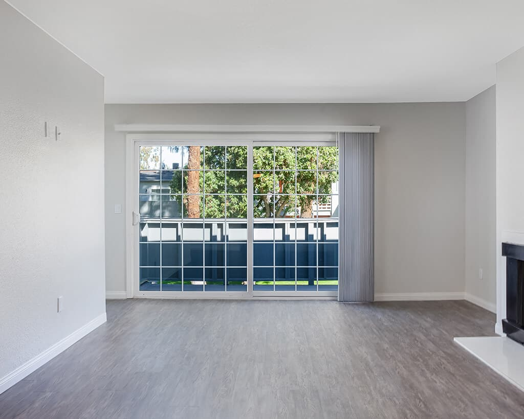Open space with view of unit balcony
